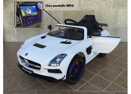Mercedes infantil deportivo SLS 2019 MP4 12V con control remoto , 1 plaza