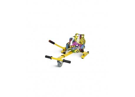 Asiento Kart  Hoverkart para Hoverboard con diseño Hip Hop multicolor amarillo