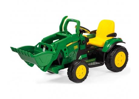 Tractor eléctrico para niños con pala excavadora Peg Perego John Deere Ground Loader 12V  ref. OR0068