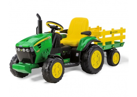 Tractor PEG PEREGO JOHN DEERE Ground Force con trailer 12V ref. or0047