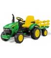 Tractor eléctrico PEG PEREGO JOHN DEERE Ground Force con remolque 12V ref. or0047