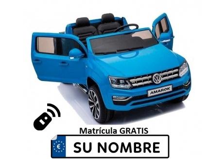 Coche eléctrico para niños Volkswagen Amarok 12V con control remoto, 2 plazas