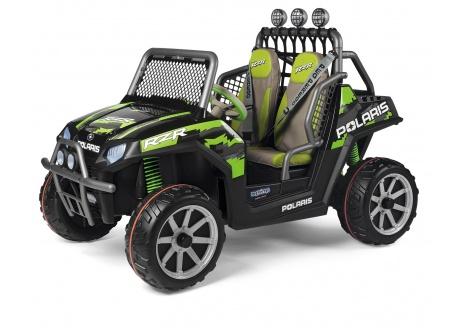 Coche infantil Polaris Ranger infantil RZR Green Shadow 24V ref. igod0534, 2 plazas, +6 años