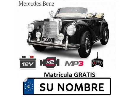 Coche eléctrico infantil Mercedes Benz 300S 12V con control remoto, 1 plaza