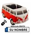 Furgoneta infantil Volkswagen T1 12v con control remoto, 2 plazas.