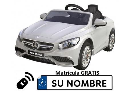MERCEDES Roaster S63 12V con control remoto, 1 plaza