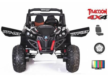 Buggy eléctrico infantil UTV-RSX 2x12V 4X4 con pantalla MP4 y control remoto, 2 plazas.