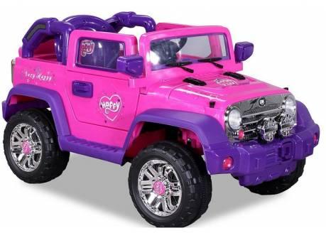 Coche eléctrico infantil JEEP WRANGLER rosa