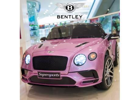 Bentley Continental 12V con control remoto, 1 plaza (rosa metalizado)